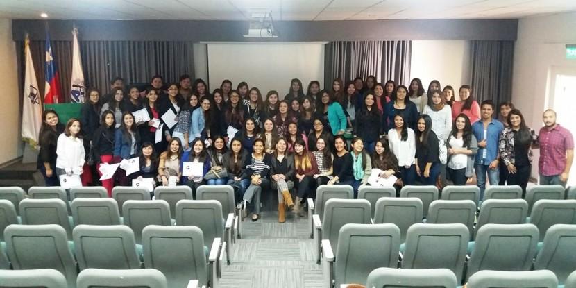Estudiantes de Fonoaudiología realizan ceremonia de Apadrinamiento estudiantil para mechones