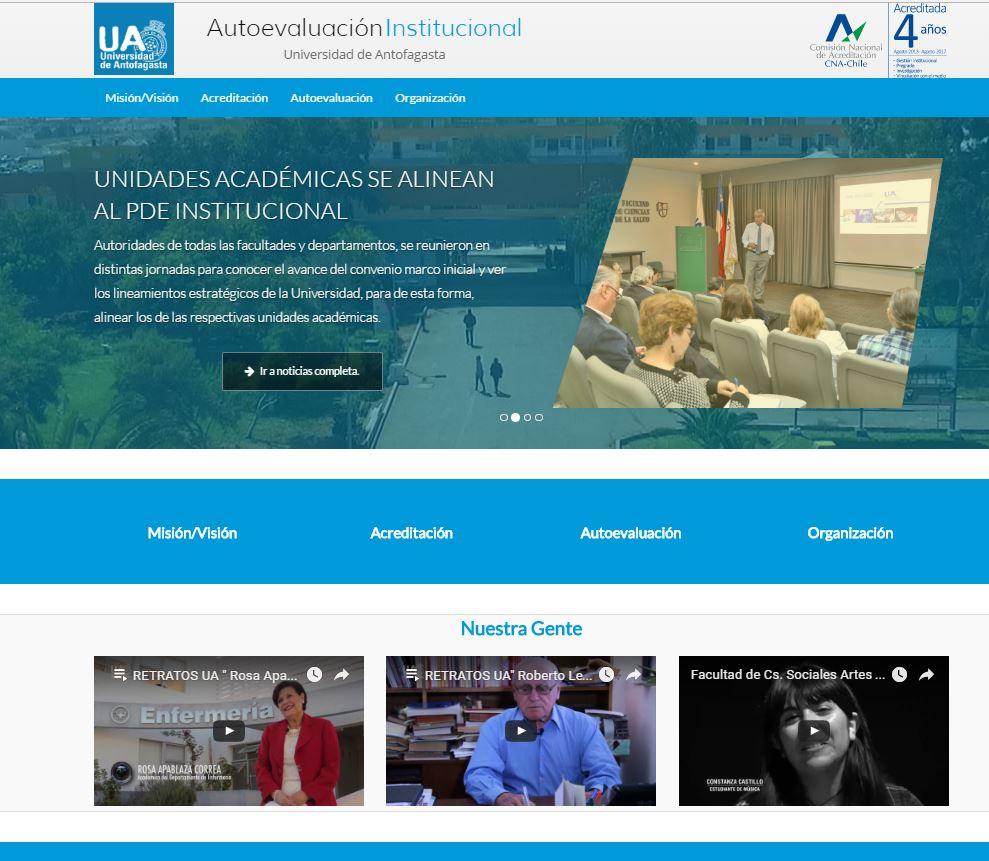 Comunicaciones UA | UA lanza sitio web de proceso de Autoevaluación ...
