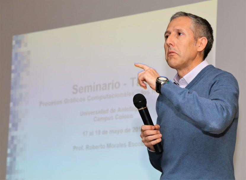 Experto presentó seminario de Procesos Gráficos Computacionales para los Nuevos Medios.
