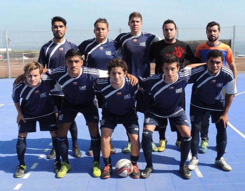 Futsal UA seleccionando a torneo universitario en Bogotá.