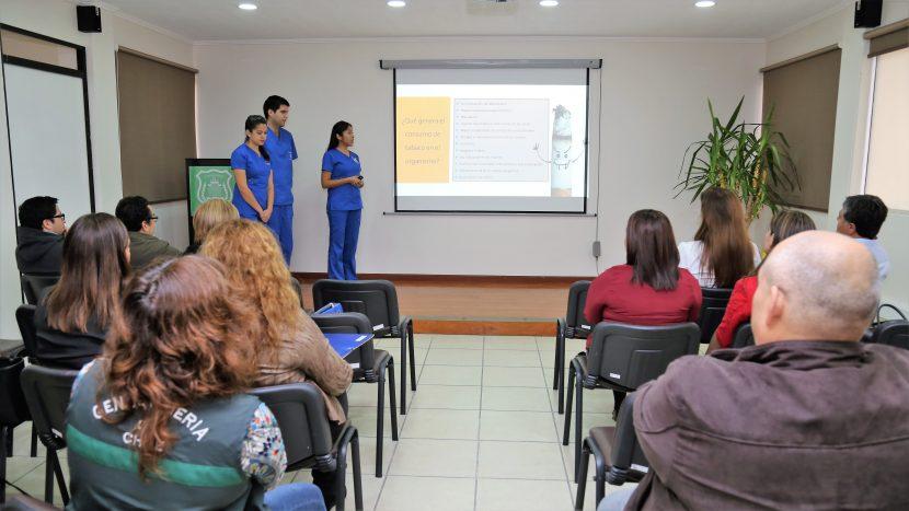 Kinesiólogos UA realizan exitosa práctica en Policlínico de Gendarmería.