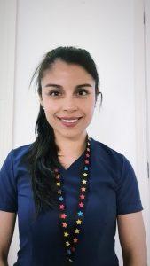 Pamela Bahamonde, estudiante de Enfermería.
